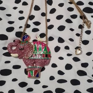 Betsey J. Elephant Necklace